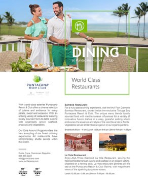 Dining at Puntacana Resort & Club