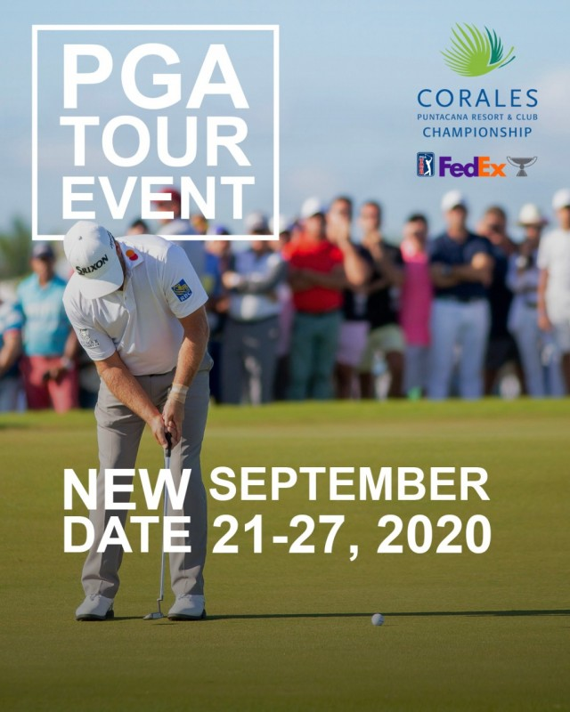 PGA TOUR will resume in September  the Corales Puntacana Resort & Club Championship